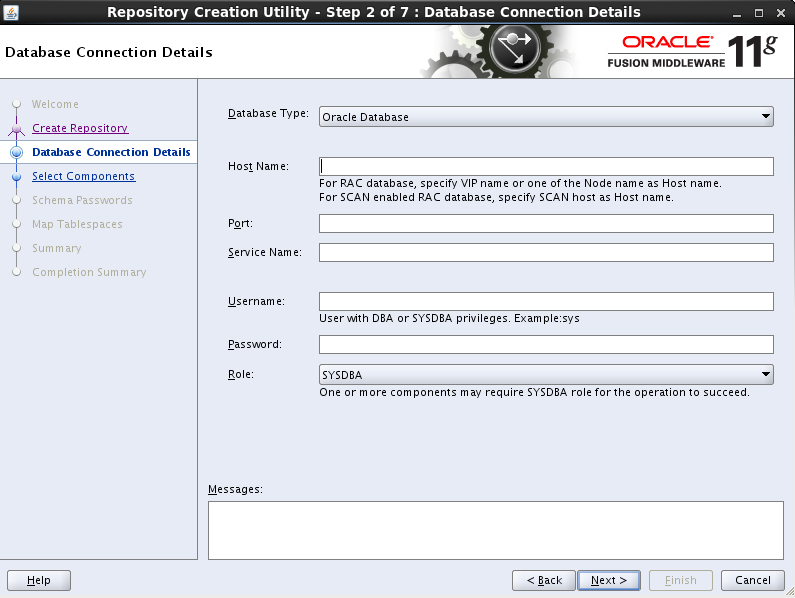 how to create a schema in oracle