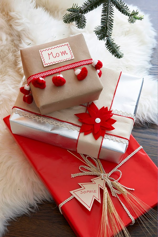 Scandinavian gift wrap inspiration