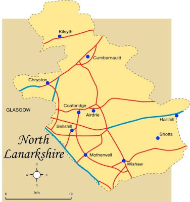 Map of North Lanarkshire Province Area