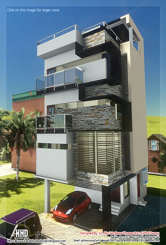 3 Floor contemporary narrow home design ~ Kerala House Design Idea on 3 garage house plans, 2 floor house plans, 3 floor home, 3 bedroom 1 floor plans, 3 room house plans, small house floor plans, 3 floor building plans, 3 bed 2 bath floor plans, 3 bed house plans, 3 level house plans, modern house floor plans, 1 floor house plans, craftsman house floor plans, bath house floor plans, 3-story small tower plans, 3 storey house plans, 3 unit house plans, 3 car house plans, ranch home plans with open floor plans, 4 floor house plans,