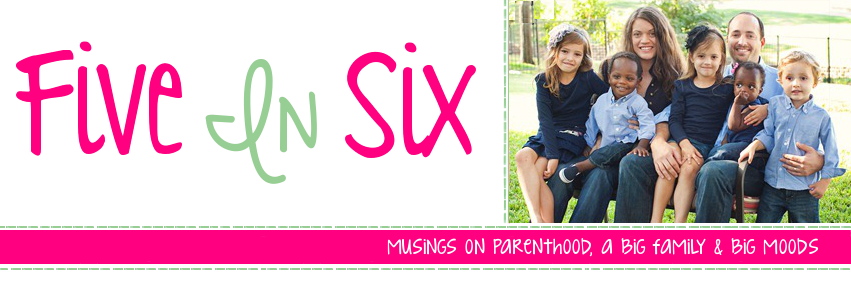Five In Six Blog | Jessica Hewitt's Musings on Parenthood, Big Families and Big Moods