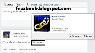 Cara Update Status Dengan Menandai Teman di Facebook
