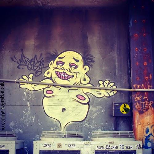 stencil graffiti by jafabrit taiwan