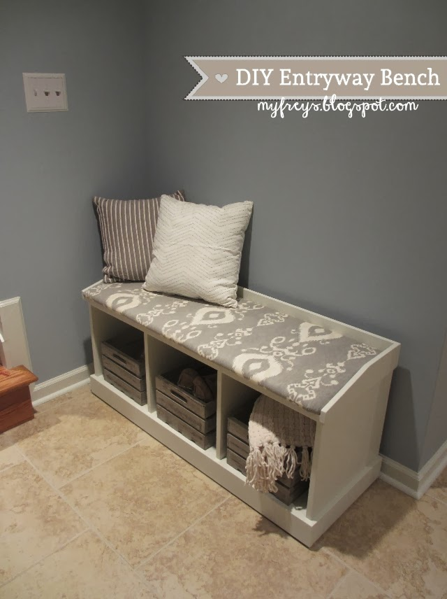 Foyer Seating Bench : Chad and elana frey diy entryway bench