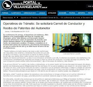 CONTROL DE TRANSITO EN VILLA ANGELA-CHACO