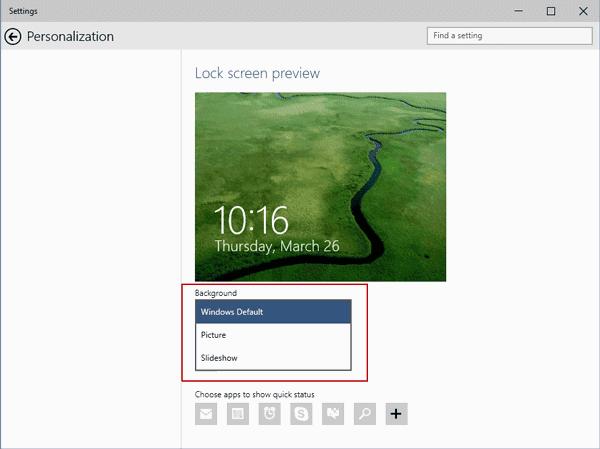 windows 10 background personalization