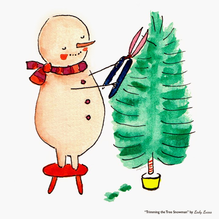 Trimming the Tree Snowman | #25DaysofSnowman