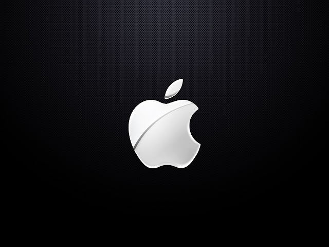 white apple logo wallpaper