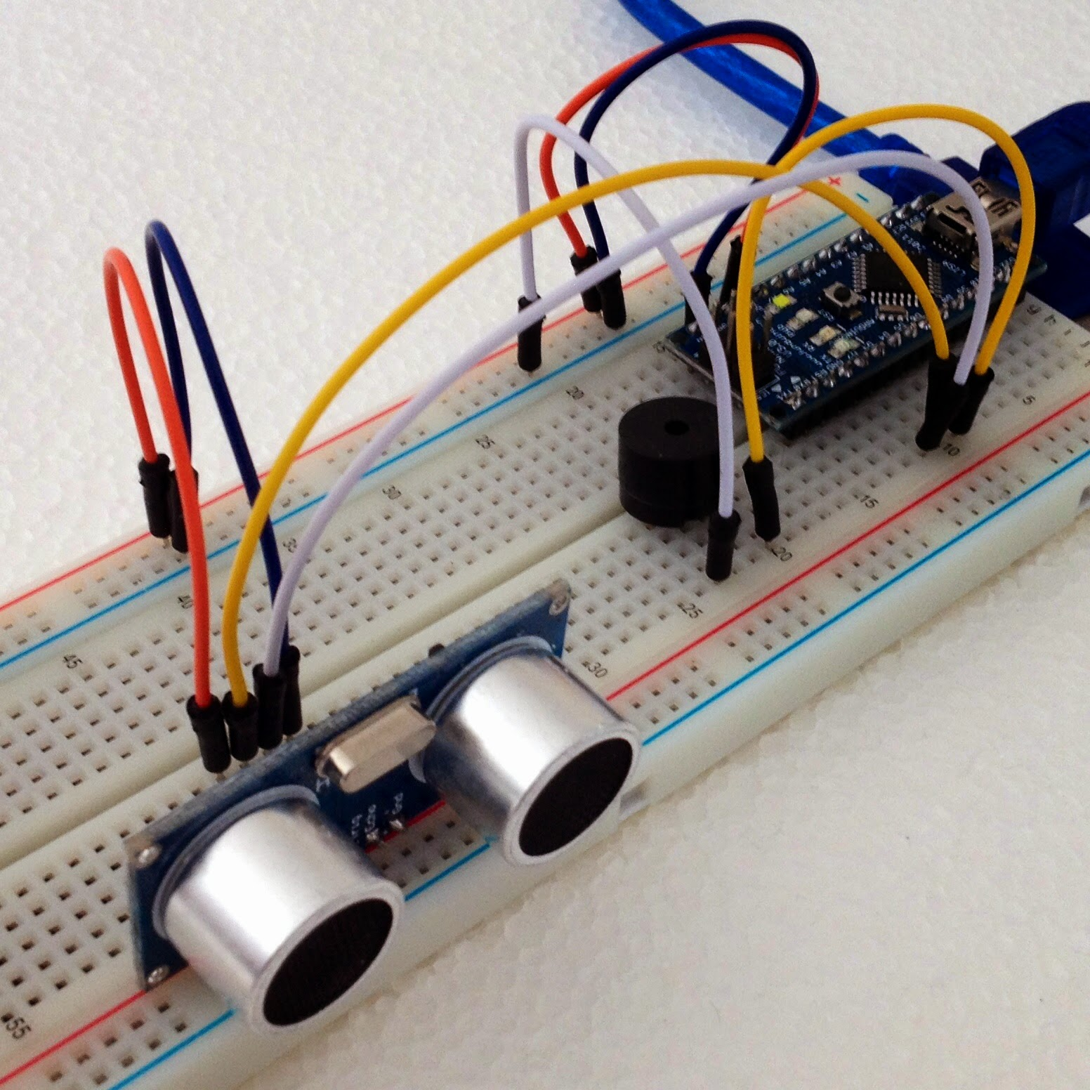 Development sketches ultrasonic sensor first try