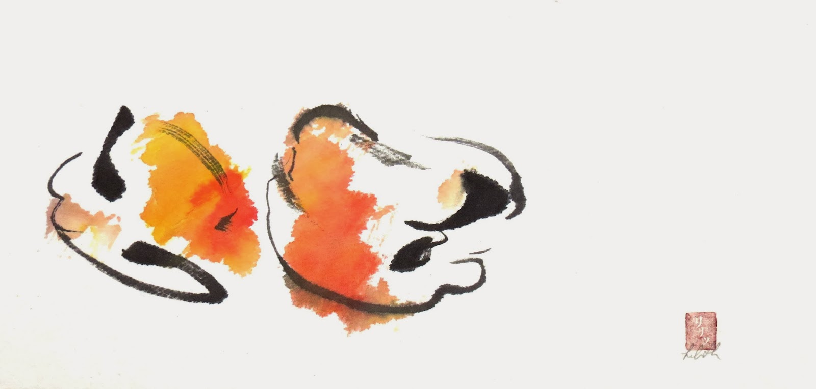 "No Name ""Tao Te Ching"", verse 1 for Artists Sumi-e painting ilustration"
