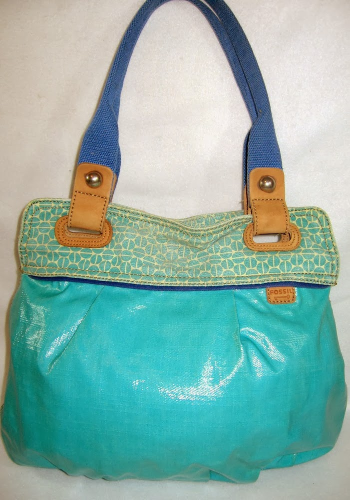 Fossil Turquoise Vegan Tote Bag