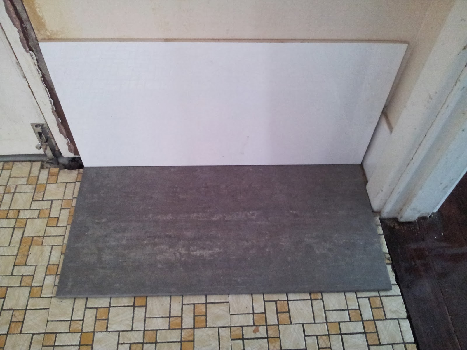 Jarrah Jungle Laundry Renovation Picking Tiles - What is needed to tile a floor