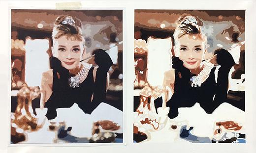 横浜美術学院の中学生教室 美術クラブ 写真から学ぶ!「アクリルガッシュで色面分割」10
