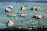 Rocky islands off Miyako Island (coral reef off miyako island )