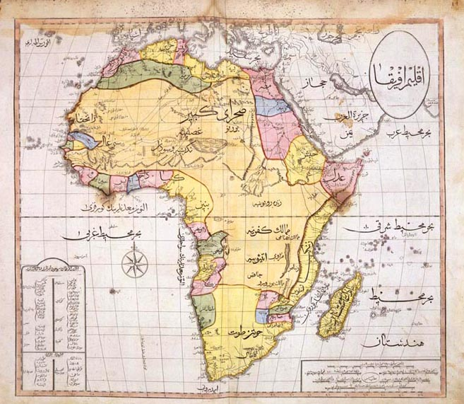 maps of african countries. Ottoman Map of Africa