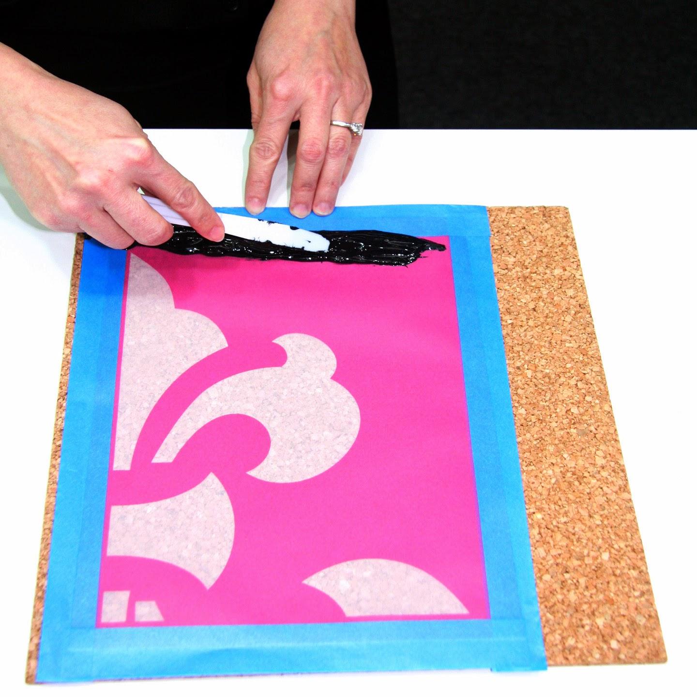 Print Fleur De Lis with StencilPro Stencils
