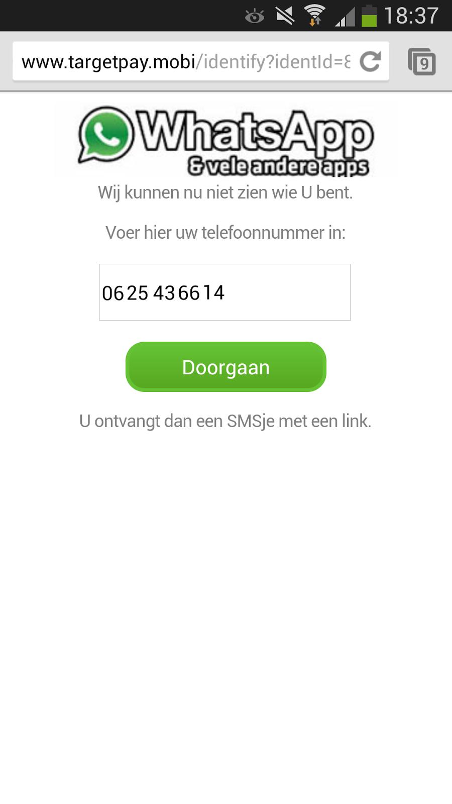 virus whatsapp melding