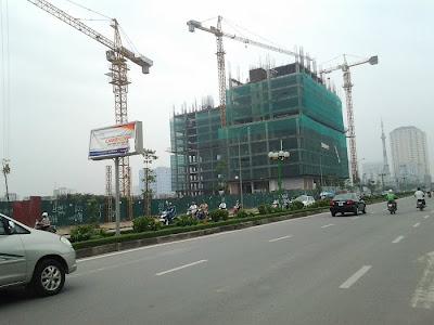 Chung cư Tây Hà đã xây tới tầng 17 vào ngày 20/9/2013