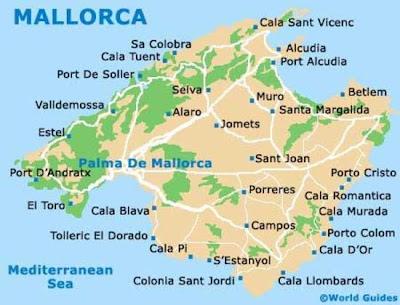 mapa de Mallorca playas y calas