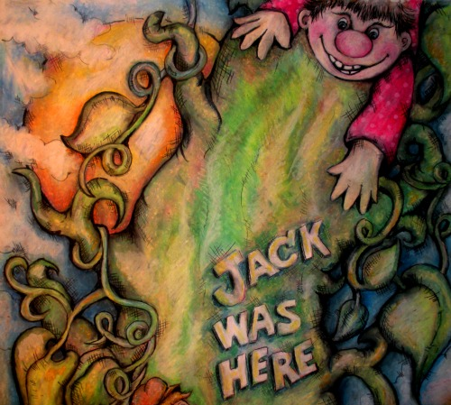 pop art minis fi fi fo fum meet a boy named jack who had a giant green thumb. Black Bedroom Furniture Sets. Home Design Ideas
