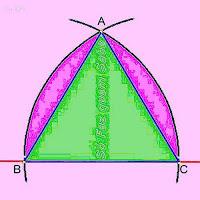 Construção de um triângulo regular (equilátero) a partir do conhecimento da medida do lado.