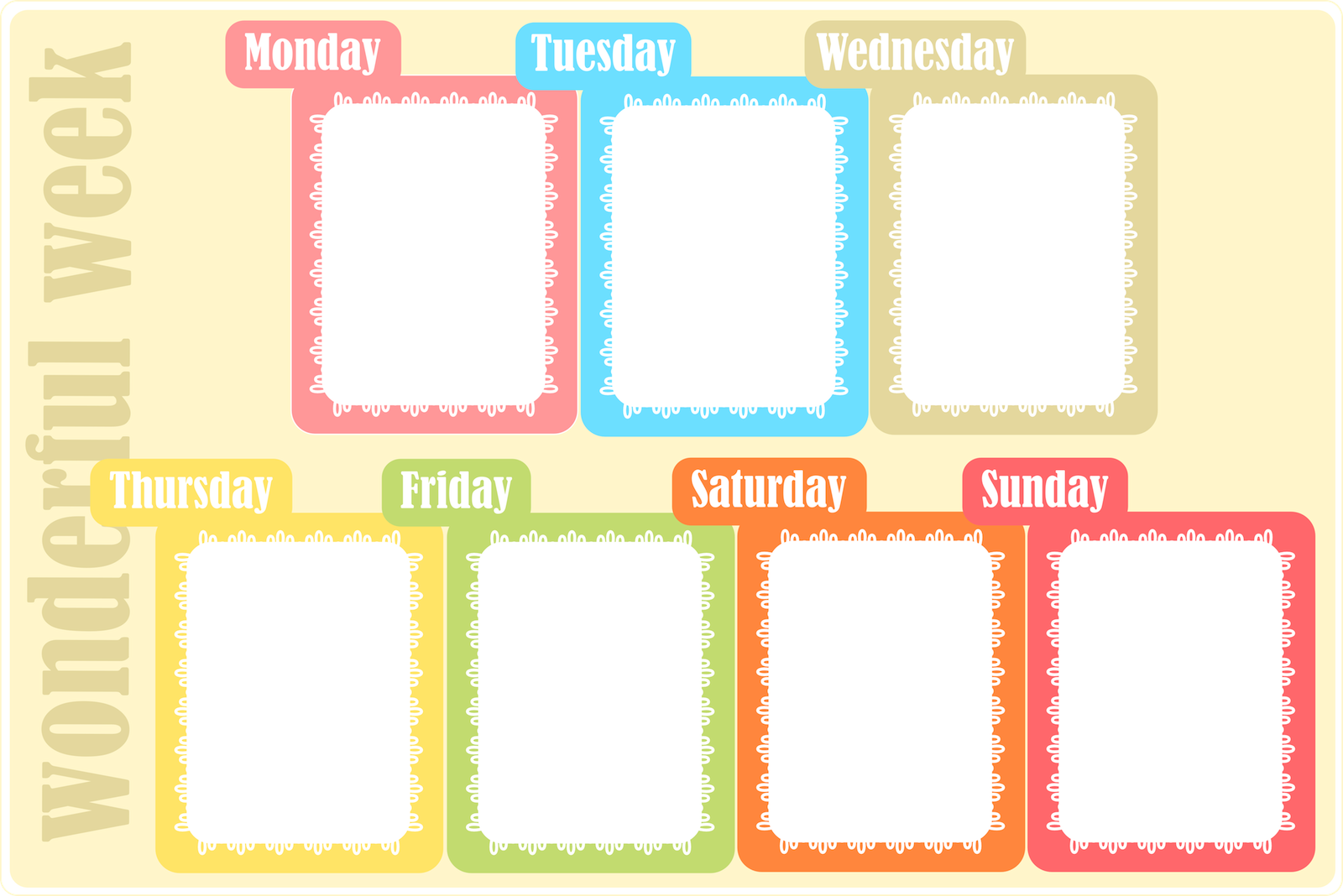 Printable Store Itinerary Template Calendar Template 2016