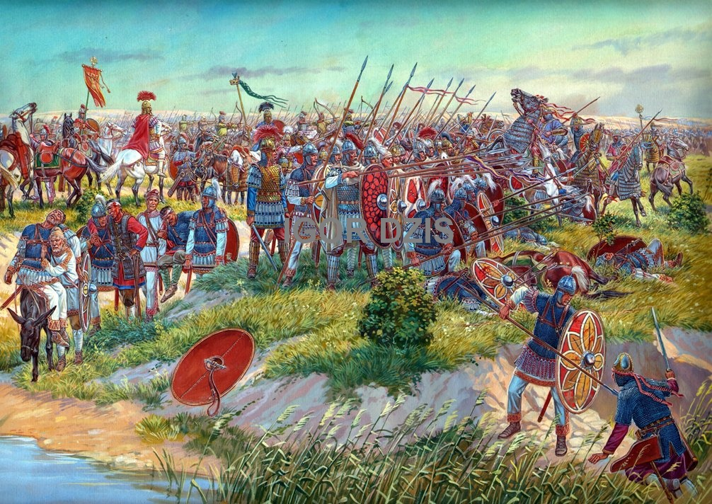 IGOR DZIS BATTLE PAINTING: Battle of Callinicum (19 April, 531 BC)