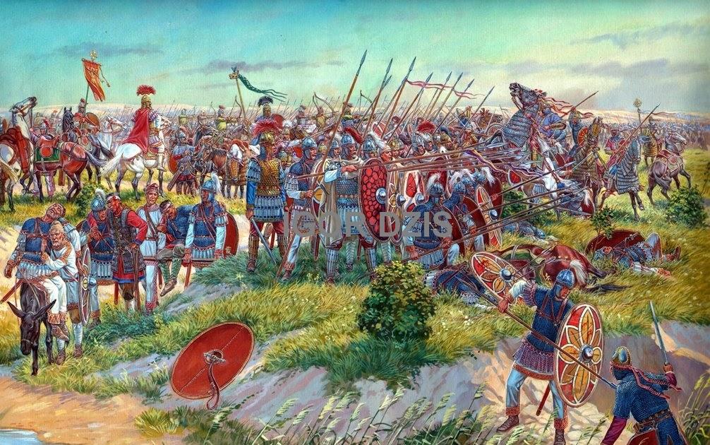 IGOR DZIS BATTLE PAINTING: Battle of Callinicum (19 April ...