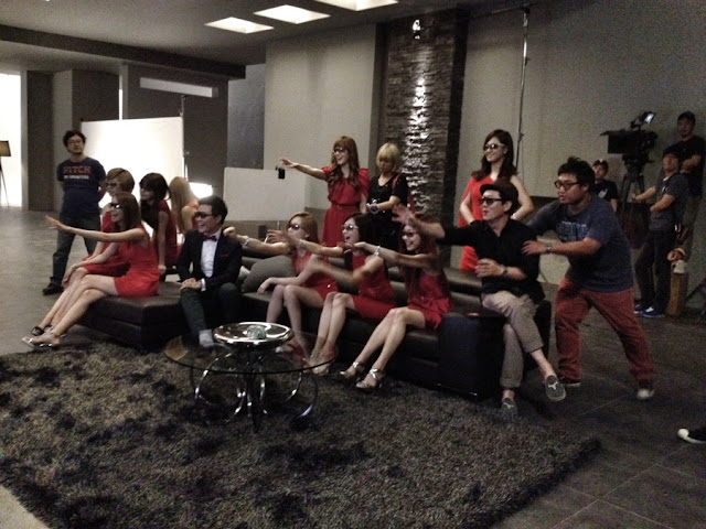 [PHOTO] SNSD Filming CF for LG 3D Smart TV