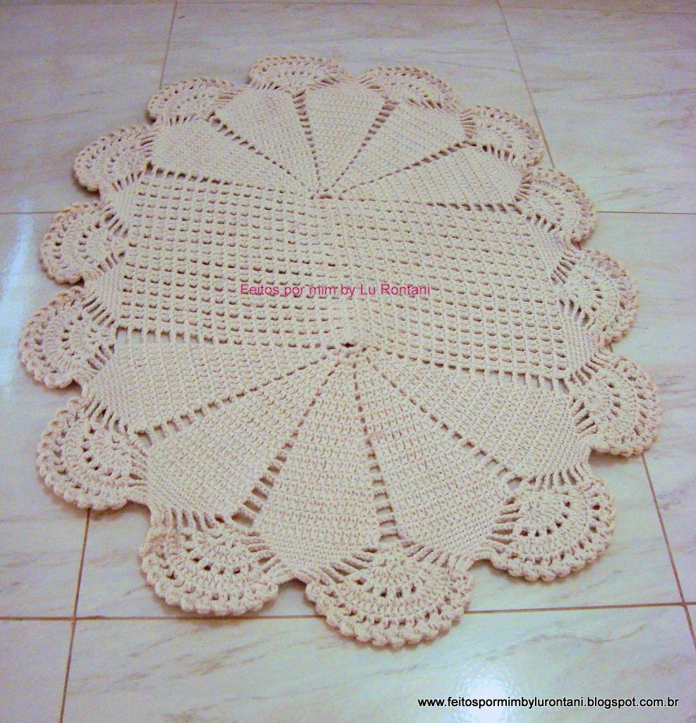 Tapete De Croche Para Quarto Oval Redival Com