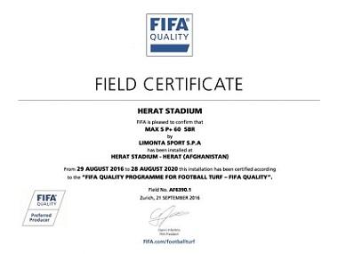 Chứng Nhận Của FIFA