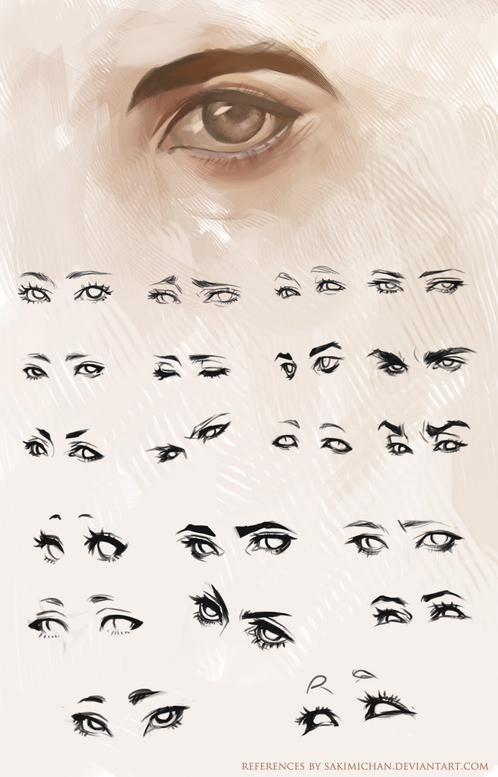 Character Design Tips And Tricks : Sakimi s wip art eye references