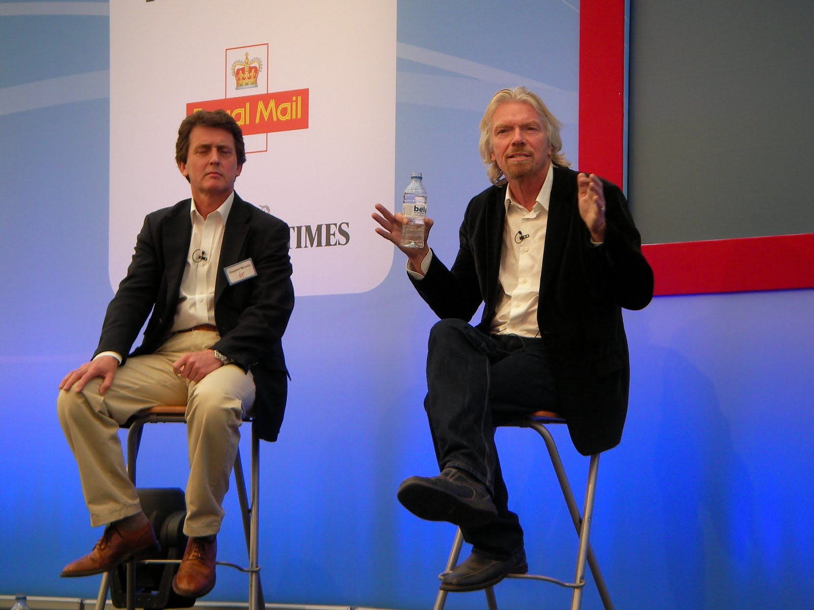 Stephen Murphy & Richard Branson answering questions