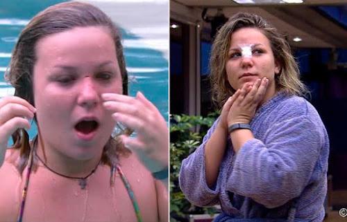 Cacau sofre acidente na piscina e é socorrida por Renan