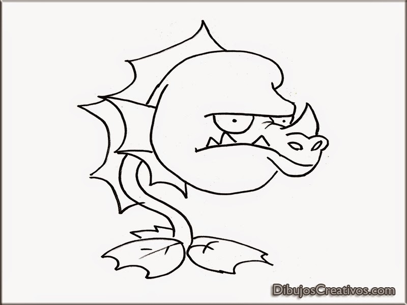 dibujos para pintar WATER DRAGON PLANTAS VS ZOMBIES 2