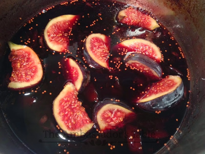 Goat Cheese Au Gratin With Figs in Red Wine Syrup and ...