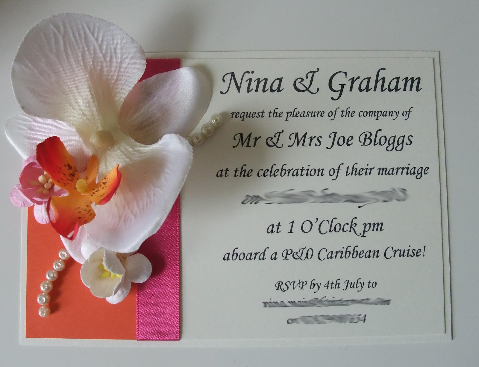Tropical Orchid Themed Wedding Stationery Styling Knots Kisses