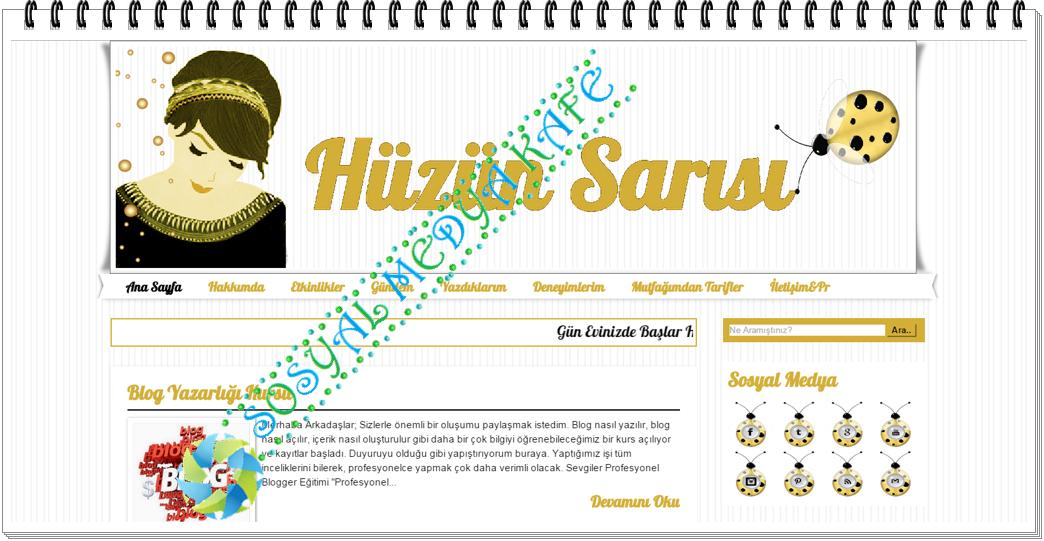 blogger tema tasarımları huzun sarısı şablon tasarımı