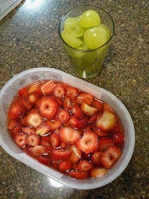 Receita de geleia de morango com uva