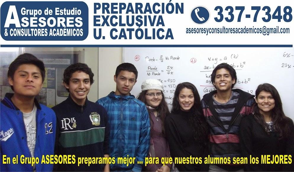 PREPARACION EXCLUSIVA CATOLICA GRUPO DE ESTUDIO ASESORES