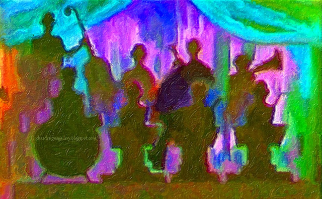 work of art - abstract painting - The Band