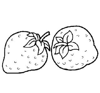 Desenhos Para Colori morango vermelho desenhar