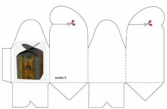 Коробка из картона схема без клея