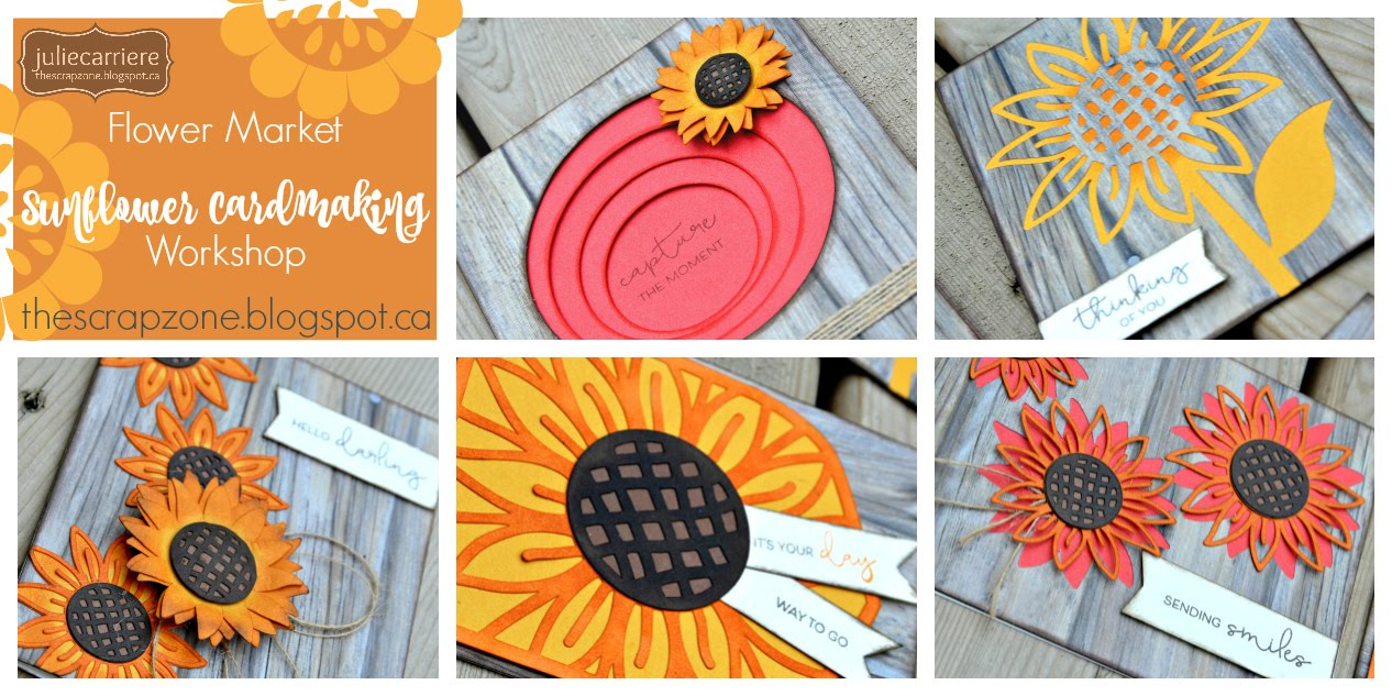 Sunflower Cardmaking assembly guife EXPLORE only