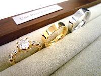 オーダージュエリーサロンで婚約指輪(エンゲージリング)と結婚指輪(マリッジリング)をオーダーした。
