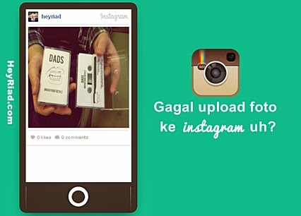 tidak bisa upload foto ke instagram
