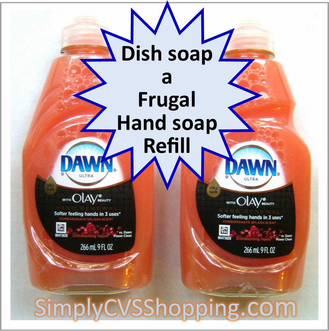 Dish soap as hand soap