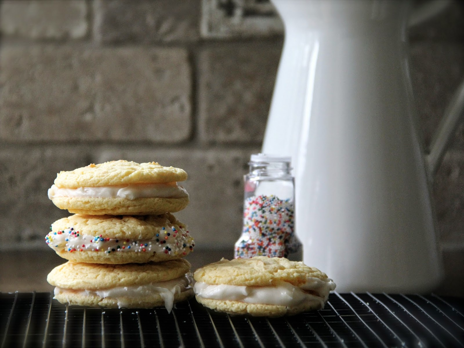 Homemade, cookies, oreos, golden oreos, sprinkles, desserts, dessert, easter, events, frosting