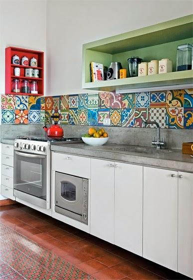 Azulejos para una cocina nica - Azulejos de pared ...