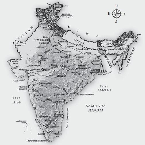 Negara Berkembang India, Letak Astronomis, Letak Geografis, Bahasa Nasional dan Batas Wilayah serta Jumlah Penduduk India